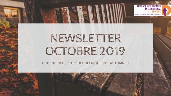 newsletter octobre 2019