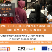 Save the date! 2 décembre 2020 - Evénement final Child Friendly Justice in Action